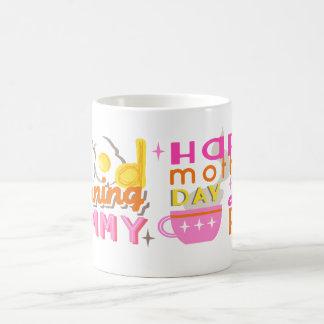Tassen-guter Morgen-Mamma-Tasse der Mutter Tages Kaffeetasse