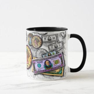 Tassen u. Schalen - große Münzen-Pop-Kunst
