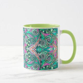 Tassen-Zeichnen mit Blumen Tasse