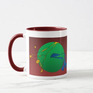 Tassenkaffee-Kriegskünste capoeira Karatetanz Tasse