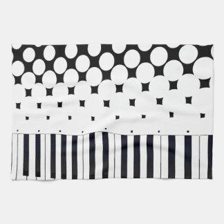 Tastatur-Halbtonbild Geschirrtuch