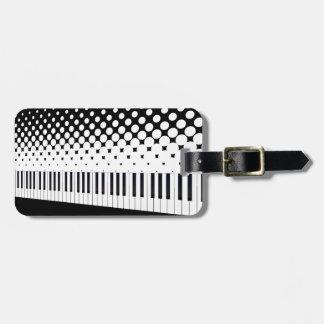 Tastatur-Halbtonbild Kofferanhänger