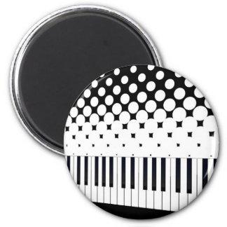 Tastatur-Halbtonbild Runder Magnet 5,7 Cm