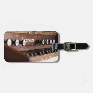 Tastatur-Instrument-Musik altes antikes Polen Gepäckanhänger