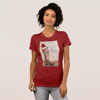 Tastatur-Katze SANKT im SCHUH-T - Shirt