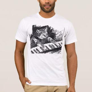 Tastatur-Katzen-Bleistift, der Shirt zeichnet!