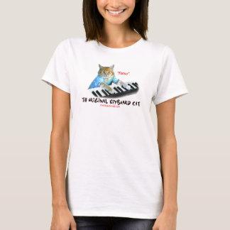Tastatur Katzen-Damen-Shirt T-Shirt