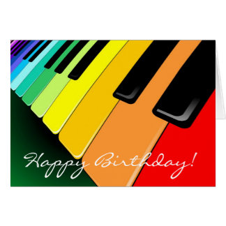 Tastatur-Musik-Party-Farben Grußkarte