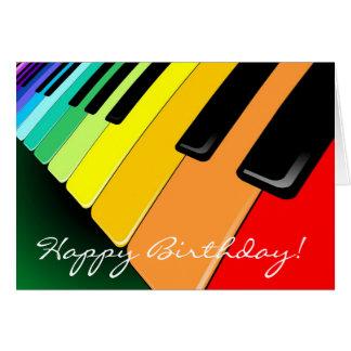 Tastatur-Musik-Party-Farben Karte