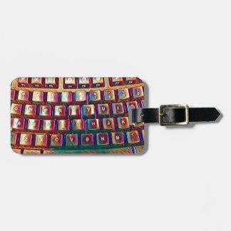 Tastatur-schreibenbuchstabe-Gepäckanhänger Kofferanhänger