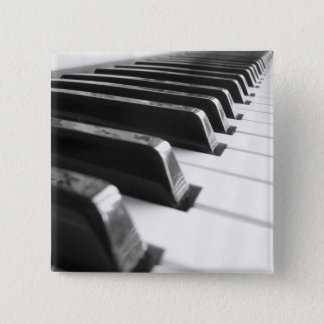 Tastatur - Schwarzweiss Quadratischer Button 5,1 Cm