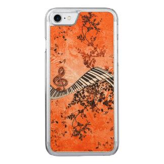 Tastatur und Clef mit Rosen Carved iPhone 8/7 Hülle