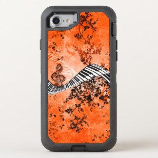 Tastatur und Clef mit Rosen OtterBox Defender iPhone 8/7 Hülle