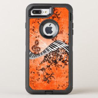 Tastatur und Clef mit Rosen OtterBox Defender iPhone 8 Plus/7 Plus Hülle
