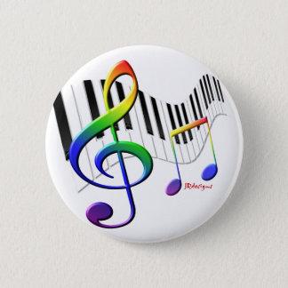 Tastatur und dreifacher Clef Runder Button 5,7 Cm