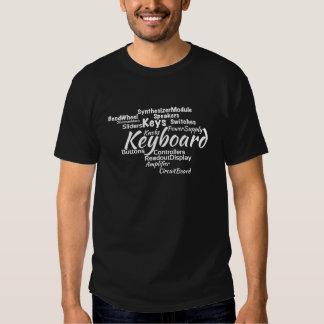 Tastatur-Wort-Wolken-Weiß-Text T Shirts