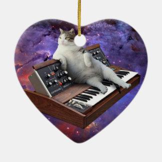 Tastaturkatze - Katze memes - verrückte Katze Keramik Ornament