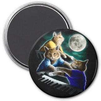 Tastaturkatze - Katzenmusik - Katze memes Runder Magnet 7,6 Cm