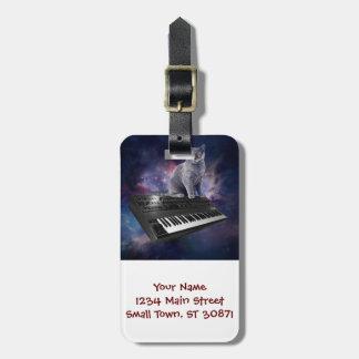 Tastaturkatze - Katzenmusik - sperren Sie Katze Kofferanhänger