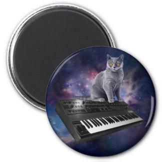 Tastaturkatze - Katzenmusik - sperren Sie Katze Runder Magnet 5,1 Cm