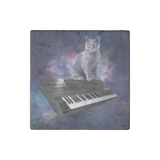 Tastaturkatze - Katzenmusik - sperren Sie Katze Stein-Magnet