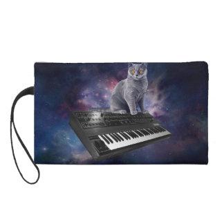 Tastaturkatze - Katzenmusik - sperren Sie Katze Wristlet Handtasche