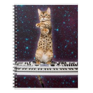 Tastaturkatze - lustige Katzen - Katzenliebhaber Notizblock