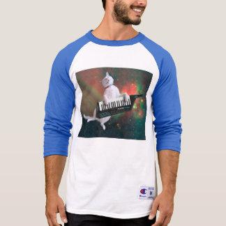 Tastaturkatze - Raumkatze - lustige Katzen - T-Shirt