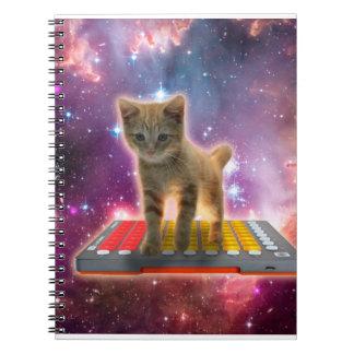 Tastaturkatze - Tabbykatze - Miezekatze Notizblock