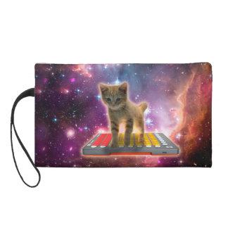 Tastaturkatze - Tabbykatze - Miezekatze Wristlet Handtasche