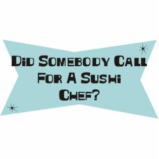 Tat jemand Anruf für einen Sushi-Koch Foto Figuren