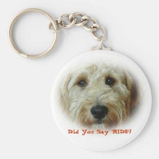 Tat Sie, FAHRTlustigen Hund zu sagen Schlüsselanhänger