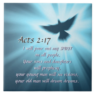 Taten-2:17 gieße ich heraus meinen Geist, Keramikfliese