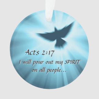 Taten-2:17 gieße ich heraus meinen Geist, Ornament