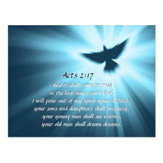 Taten-2:17 gieße ich heraus meinen Geist, Postkarte