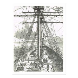 Tätigkeit auf den foredeck 1800s postkarte