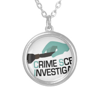 Tatort-Forscher Halskette Mit Rundem Anhänger