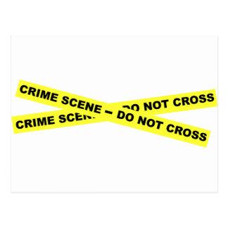 Tatort - kreuzen Sie nicht Postkarte