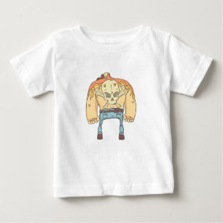 Tätowierte gefährlicher Verbrecher umrissene Baby T-shirt