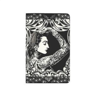 Tätowierte Schwarz-weiße Zeitschrift der Sinti und Taschennotizbuch