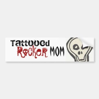 Tätowierter Rocker-Mamma-Aufkleber Autoaufkleber