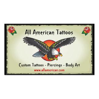 Tätowierungs-Amerikaner-Eagle-Visitenkarten Visitenkarten