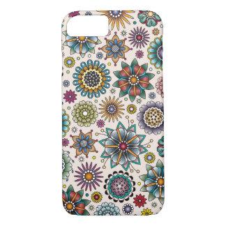 Tätowierungs-Art-Blumen-Gekritzel-Muster iPhone 8/7 Hülle