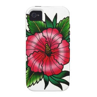 Tätowierungs-Art-Hibiskus-Blume iPhone 4 Cover