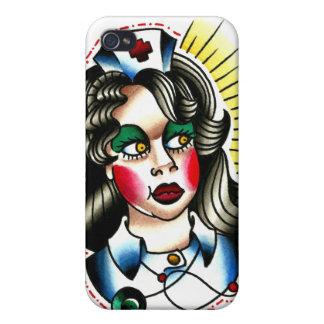 Tätowierungs-Art-Krankenschwester-Aquarell iPhone 4/4S Cover