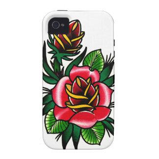 Tätowierungs-Art-Rose Case-Mate iPhone 4 Case
