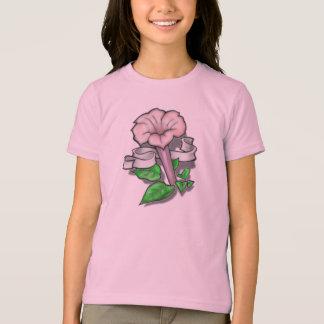 Tätowierungs-Blume mit Band T-Shirt