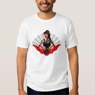 Tätowierungs-Button oben Shirt