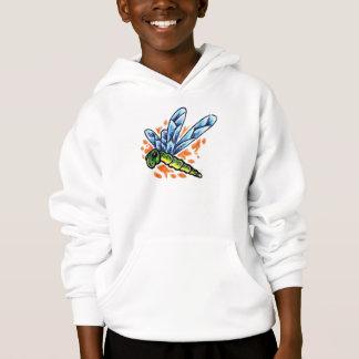 Tätowierungs-Libellen-mit Kapuze Sweatshirt