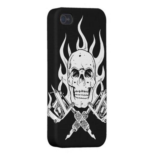 Tätowierungs-Schädel iPhone 4/4S Hülle